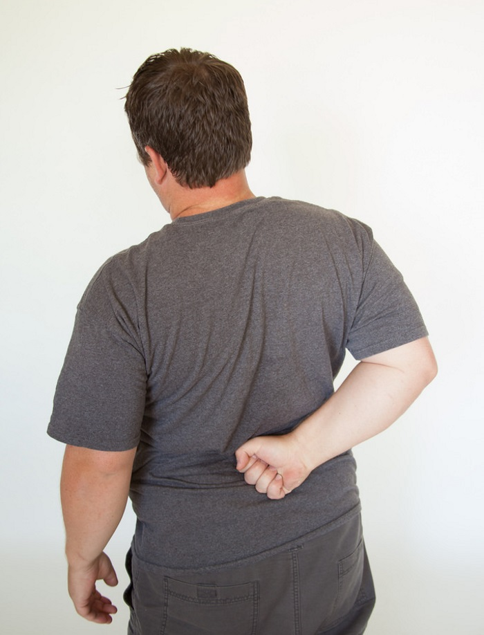 a guy with back pain